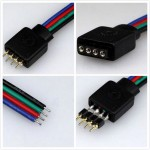 4 PIN Female RGB Connectors Wire Cable