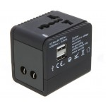 2.1A Universal Travel Adapter With USB Charger