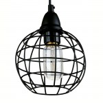 615 Vintage Cage Decorative Hanging Pendant(Black)