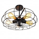621 Retro Loft Iron Fan Pendant Light (Bronze)