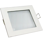 LED Downlight Square translucent 12W - White / Warm White