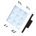 LED Downlight Square 9W - White / Warm White