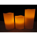 3 FLAMELESS LED WAX CANDLE SET