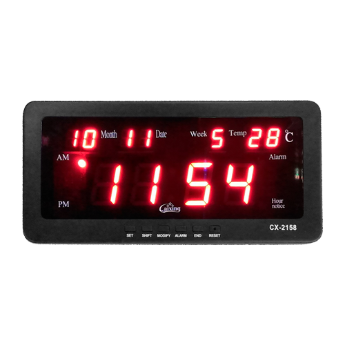 Led Digital Clock Cx 2158