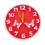 HCT Clock - Round - Butterfly
