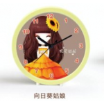 US001 Beautiful Flower Girl Alarm Clock