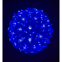 50 LED Flower Ball - Blue