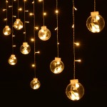 138LED Linkable Window Ball Curtain Light  String w/ 8 modes (Warm White)