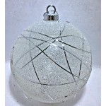 10cm Crystal Ornament with Light (White)