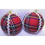 10cm X'Mas Decor Ornament (Red Cloth)