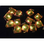 Green & Yellow Ketupat Straight Light - 3 Meter
