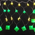 96LED Net Star,Moon & Ketupat (Green & Yellow)