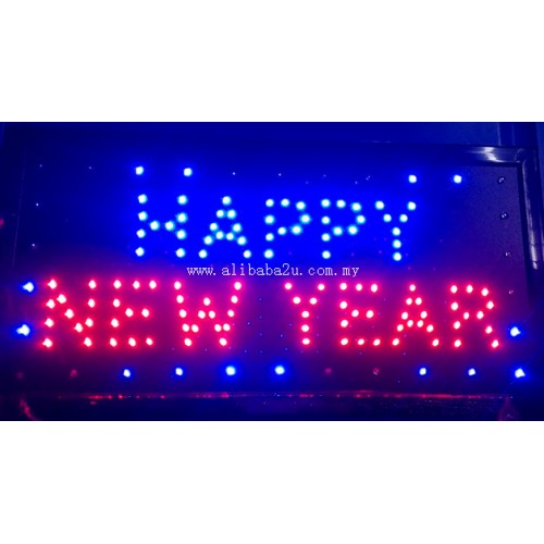 led sign board happy new year