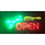LED Sign Board - Open Scissors + Comb