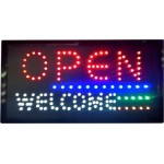 LED Sign Board - Open Welcome